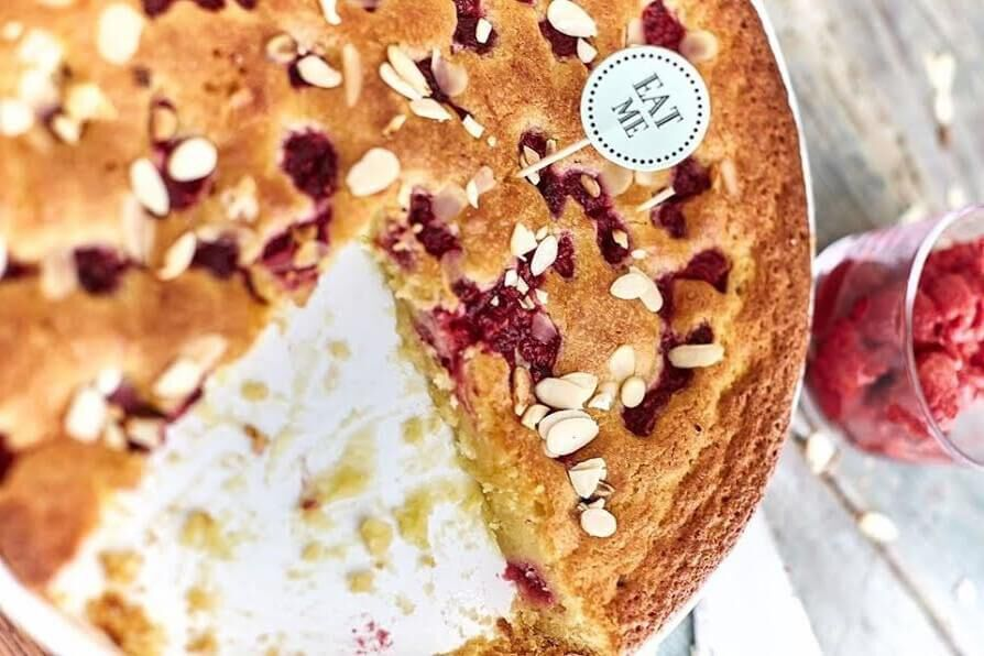 Málna-mandula torta