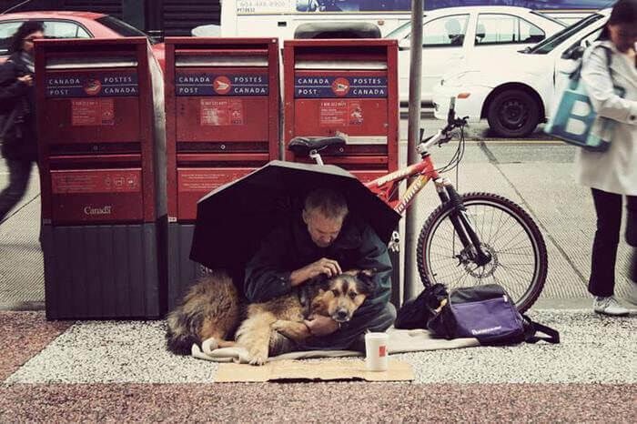 Homeless People and their Dogs Unconditional Love 9
