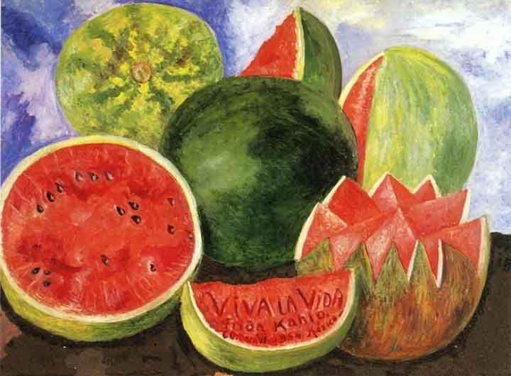 Frida Kahlo Watermelons Painting Viva La Vida Meaning