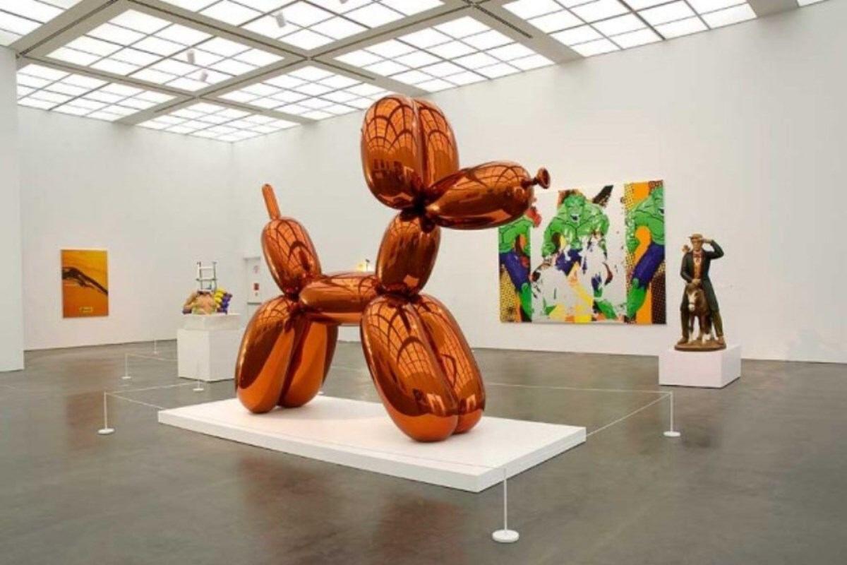 Jeff Koons Balloon Dog Orange Sculpture