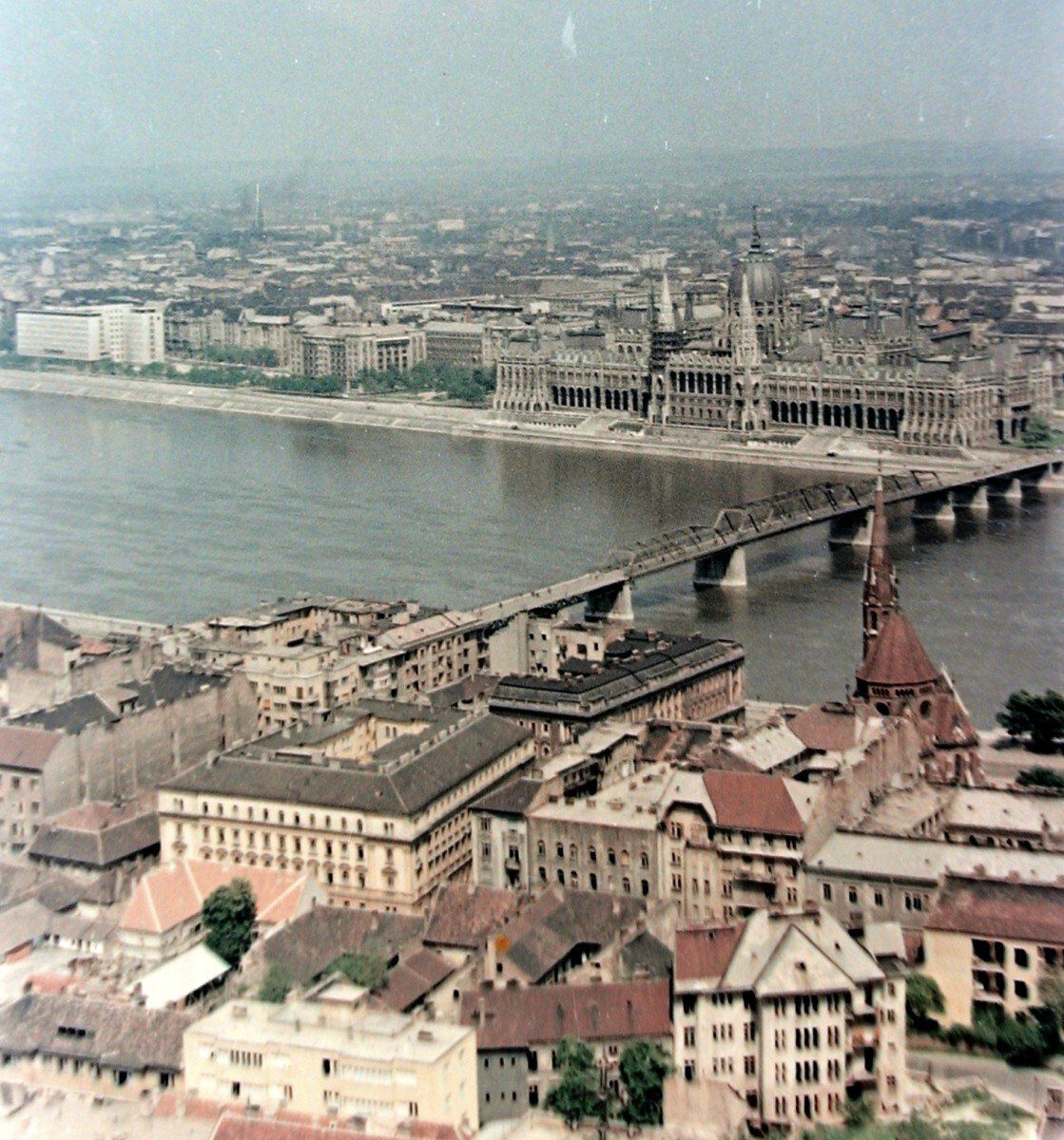 Panorama a Kossuth hiddal. Fortepan 372