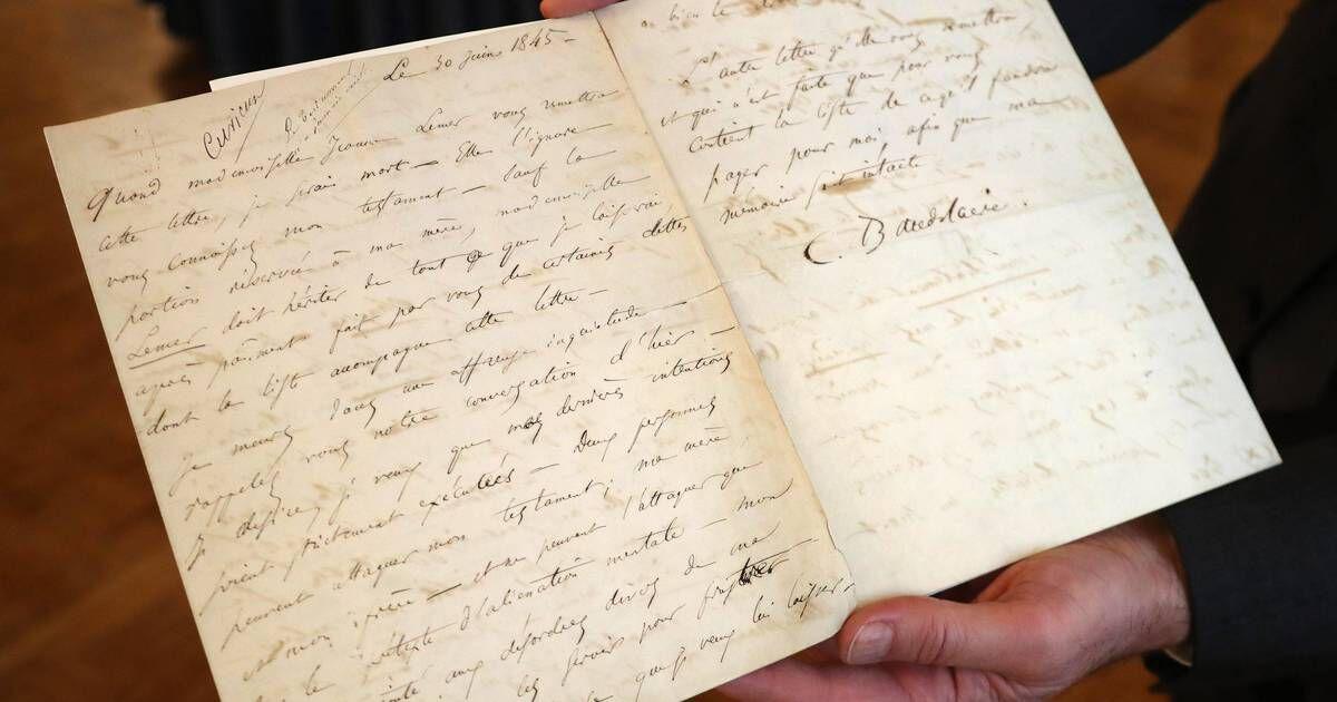 06cd1ca2974ca89a6a45b48321c4671a une lettre de suicide de charles baudelaire vendue 234 000 euros aux encheres