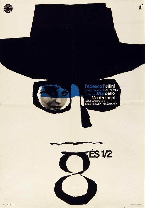 Fellini nyolcésfél görög lajos plakatja