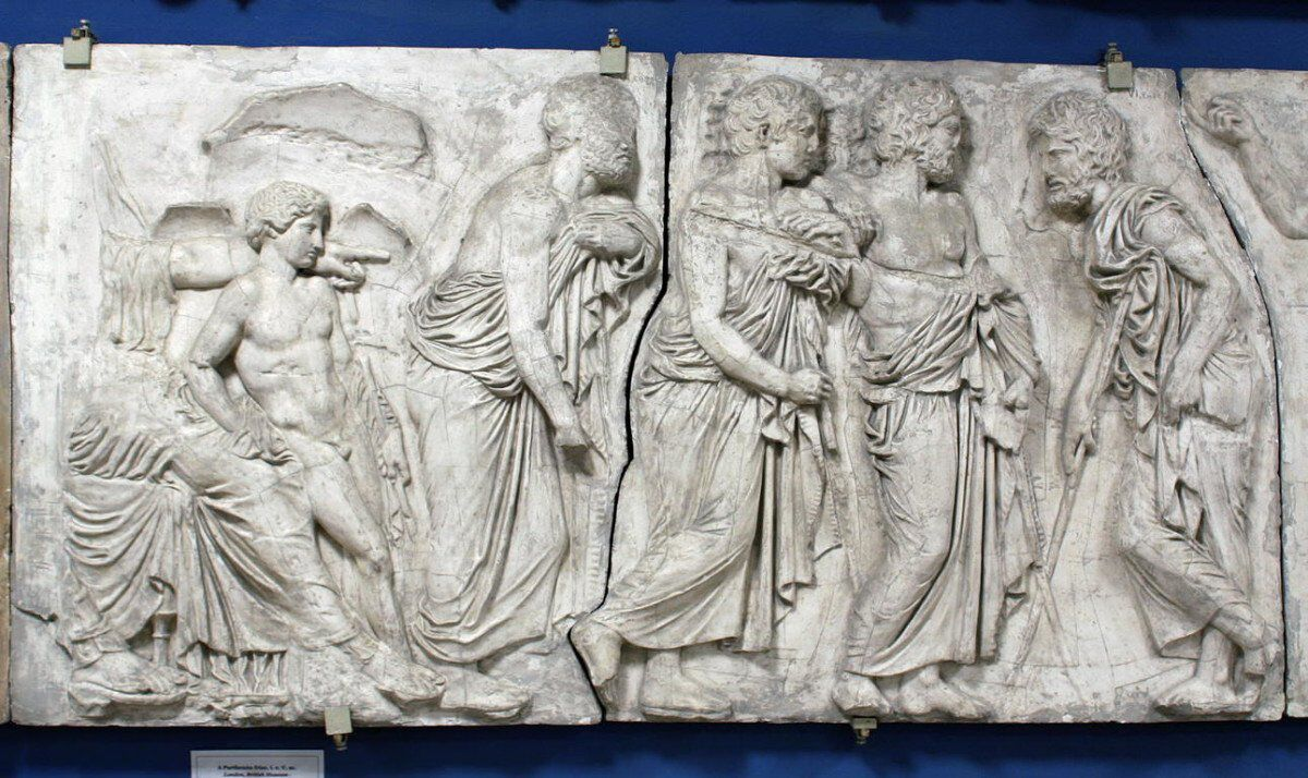 Parthenon frízek VI tábla