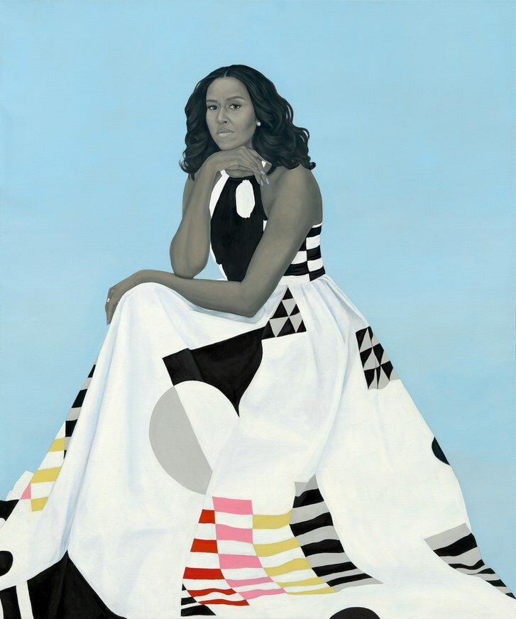 StFelix Amy Sherald Portrait Michelle Obama