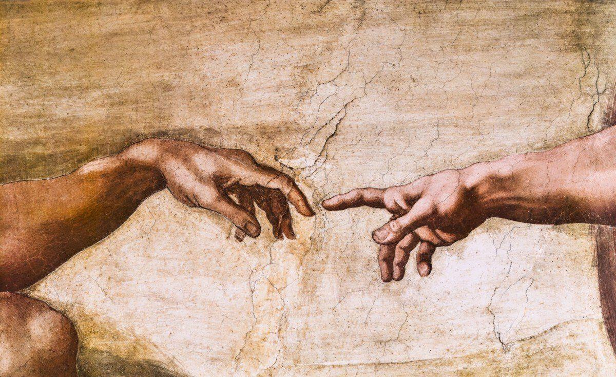 close up of god and adam s hands 157844809 581782983df78cc2e8f37856