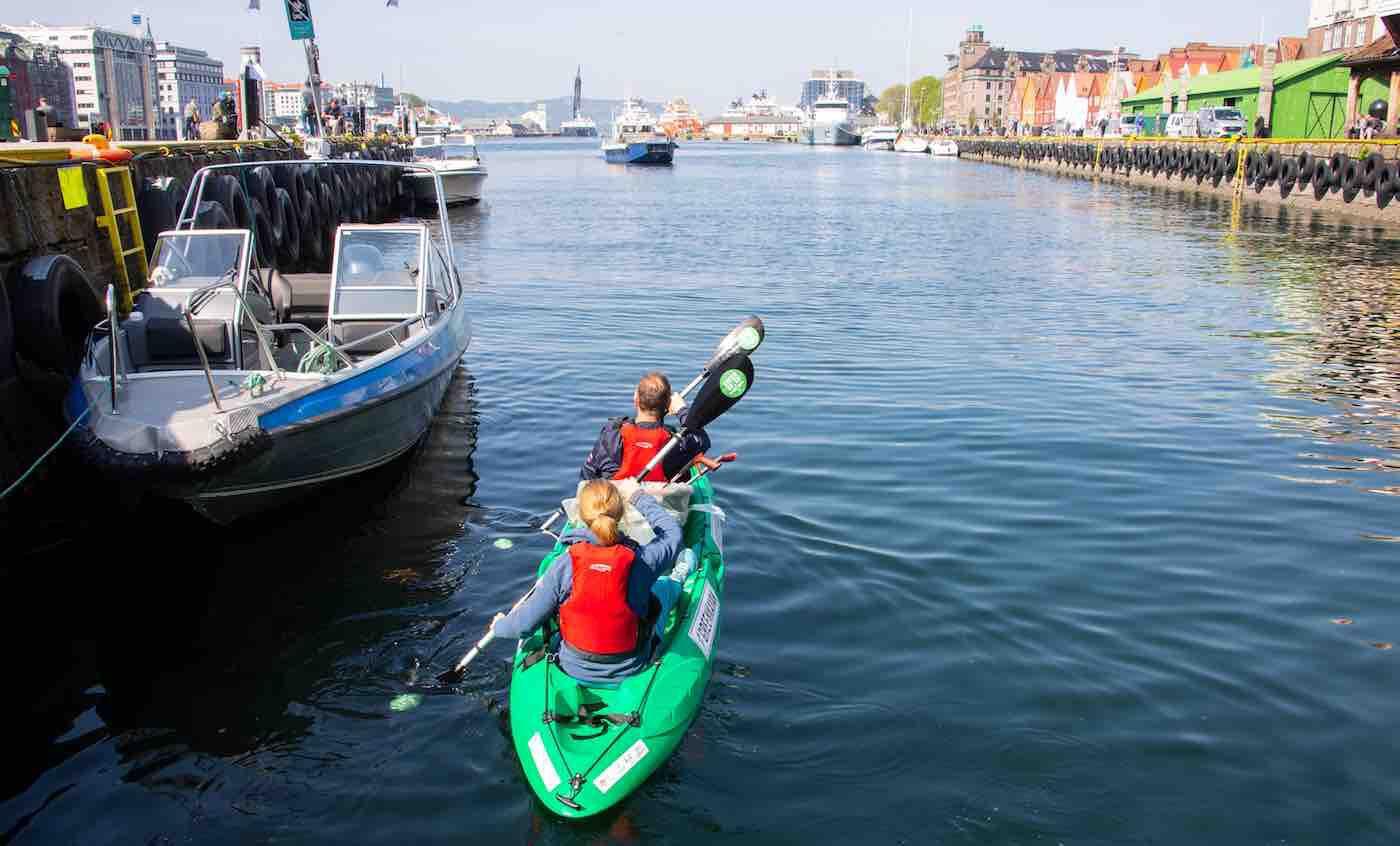 green kayak műanyaghulladék