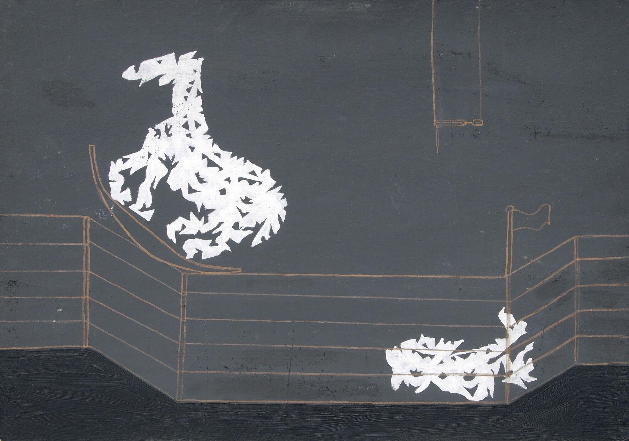 4 drMárias Zsoke 35x50 akril olaj karton fatábla 1988