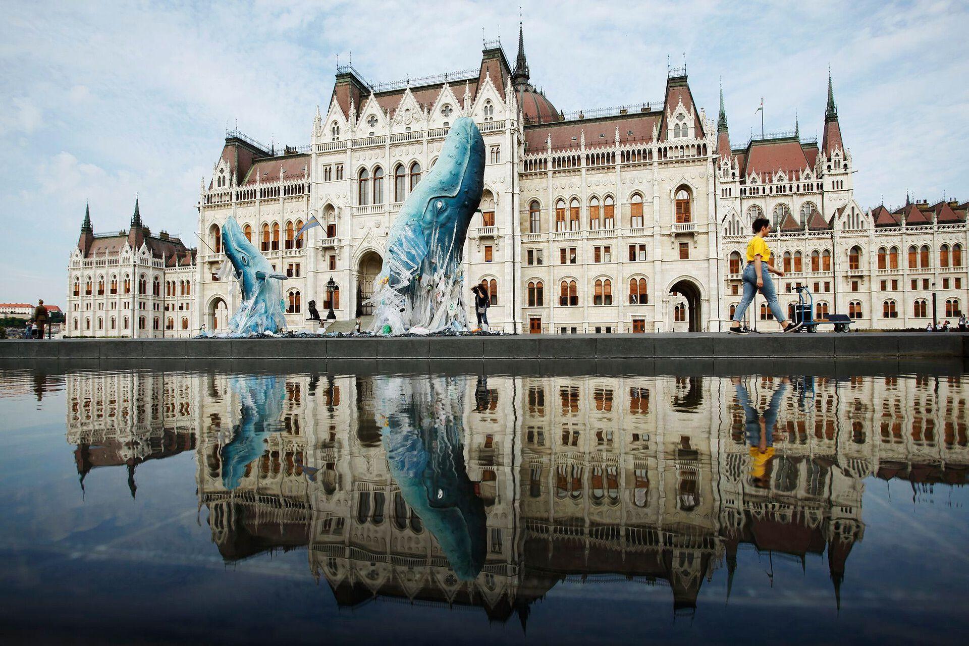 greenpeace műanyag bálna parlament műanyagmentes július
