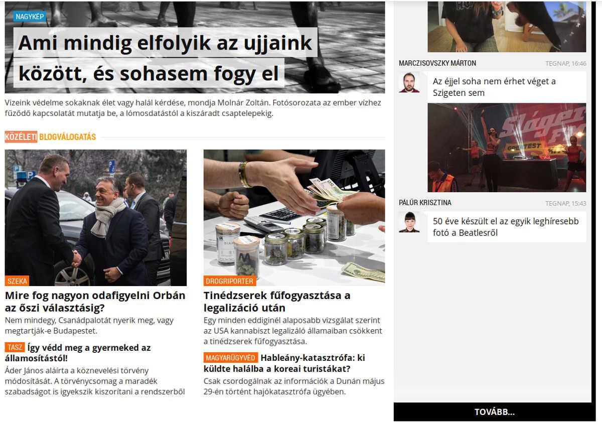 index közéleti blogválogatás blog.hu