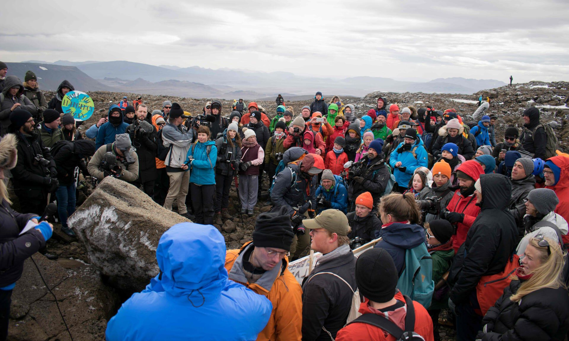 izland gleccser temetés klímaváltozás