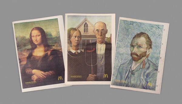 McDonalds kallszikus festmény reklám 1