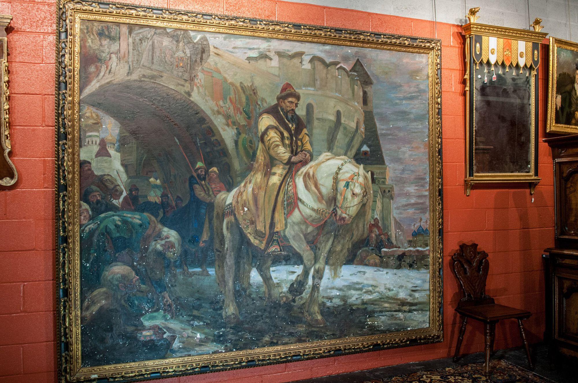 Mikhail N. Panin rettegett iván festmény