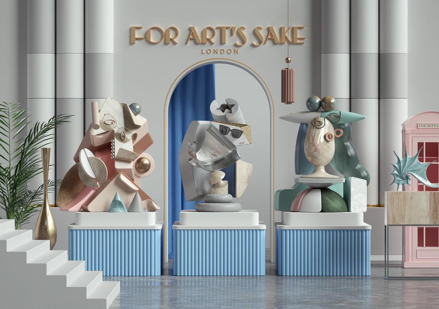 Picasso CR Studio for arts sake párizsi divathét 3d