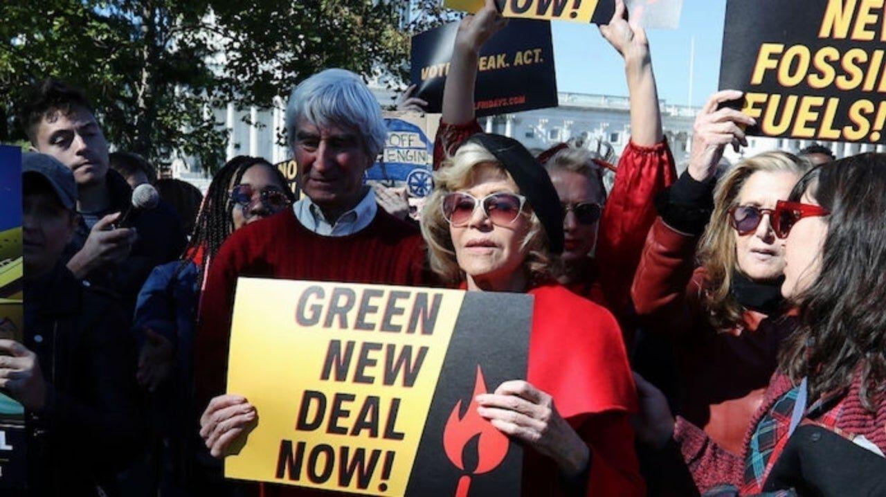 jane fonda klímatüntetés letartóztatták