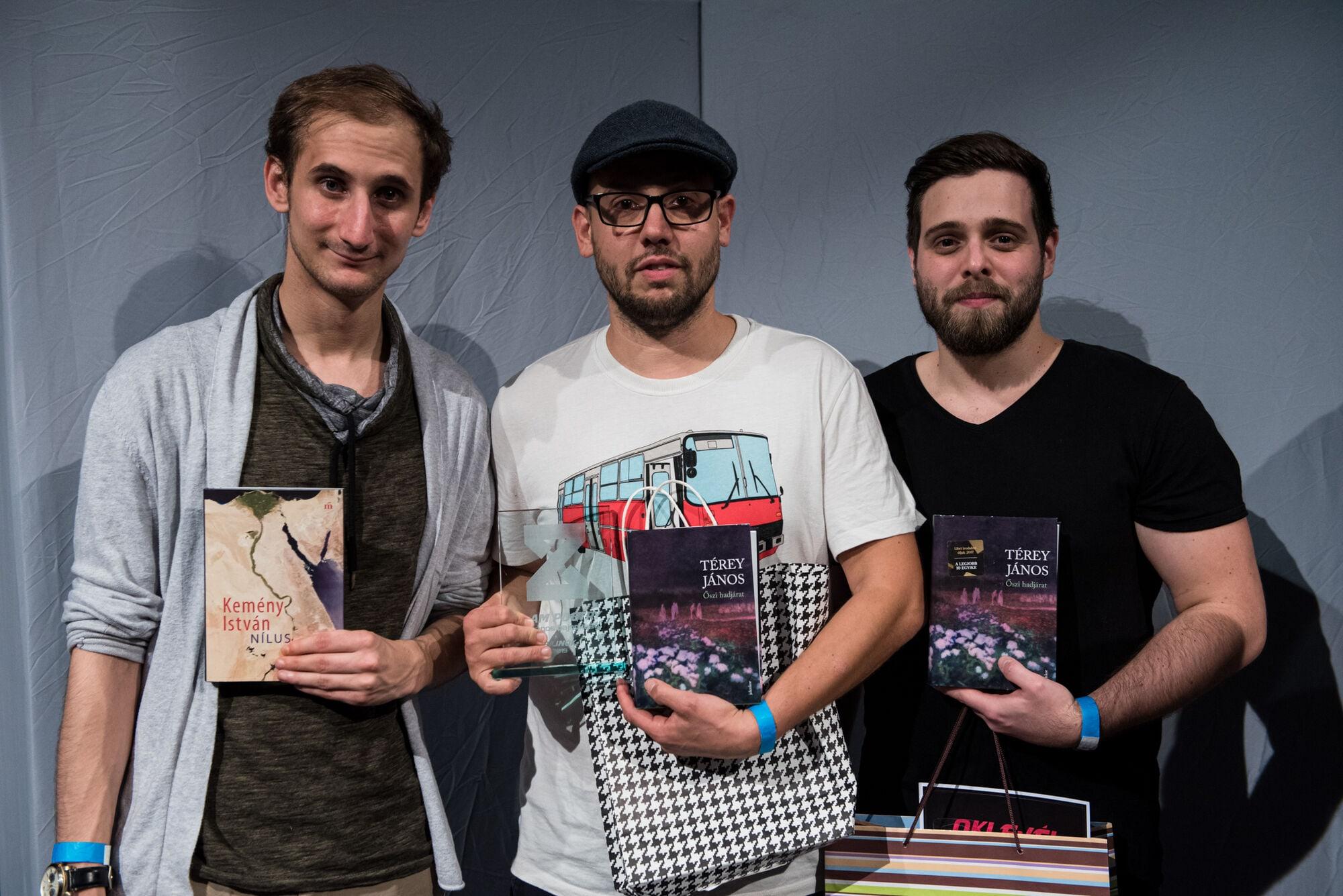Slam Poetry Ob Döntő Bajnok Nyertes Mészáros Péter Sárközi Rihcárd Boros Bence