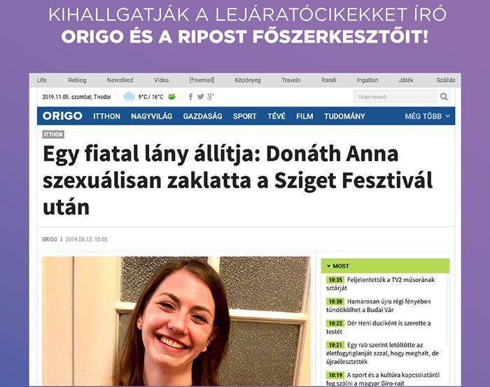 donáth anna momentum ripost origo kihallgatás