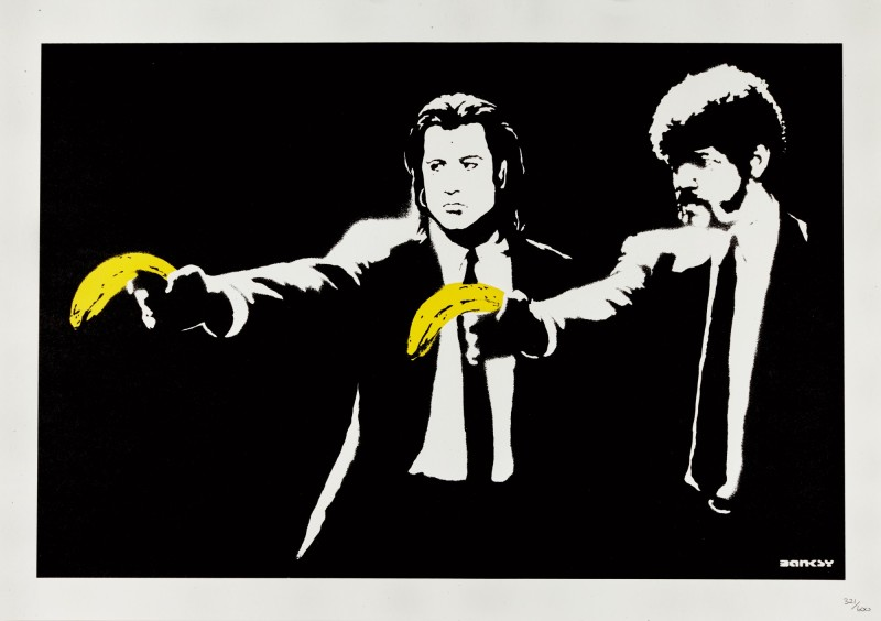 banksy pulp fiction banan