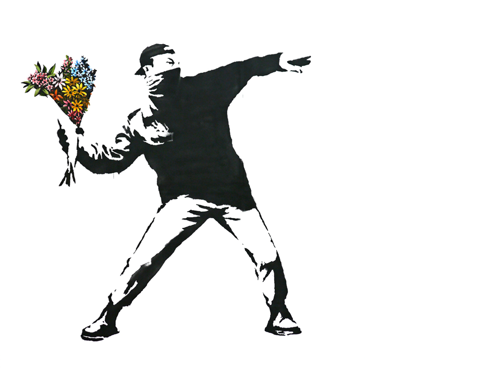banksy viragbomba 1