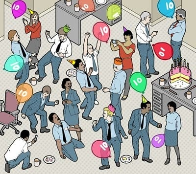 céges buli közösségi média