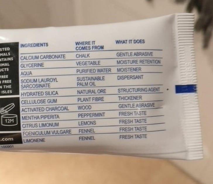 fogkrém összetevők tanulás