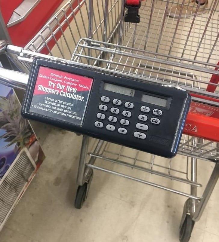 számológép bevásárlókocsi