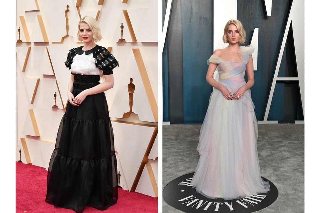 1 Oscar afterparty look Lucy Boynton