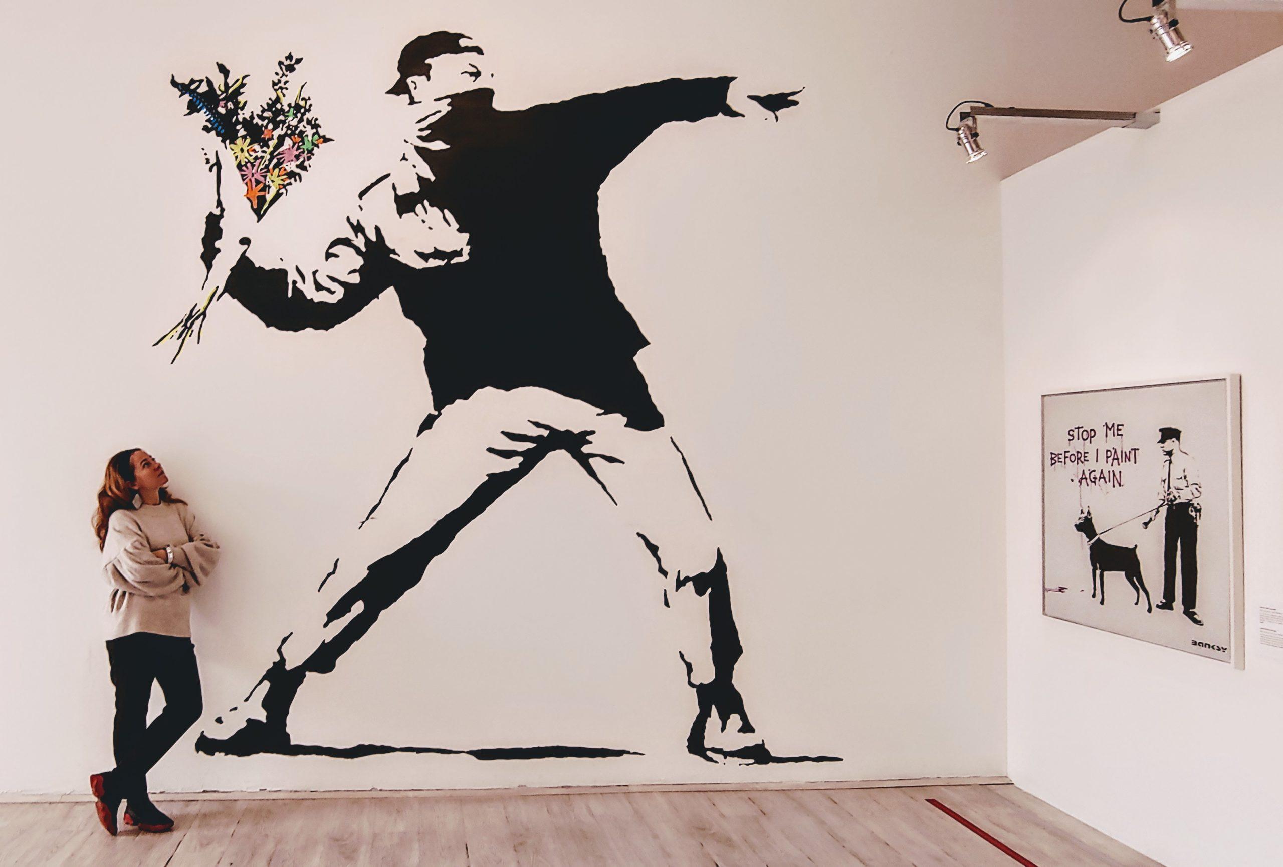 Laczkovich Borbála Banksy Kiallitaas Budapest Scaled