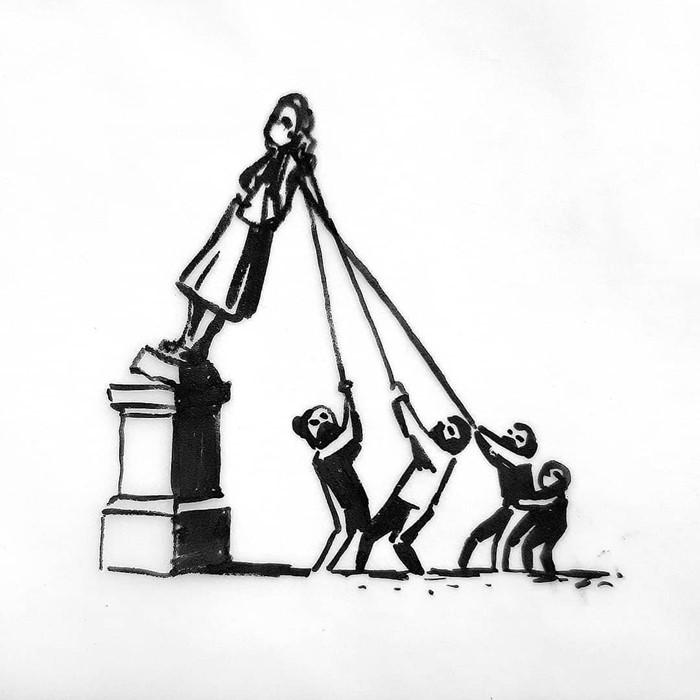 banksy bristol szobor terv