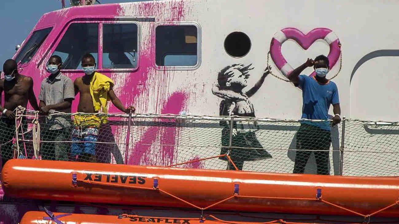 Banksy Migrans Hajo