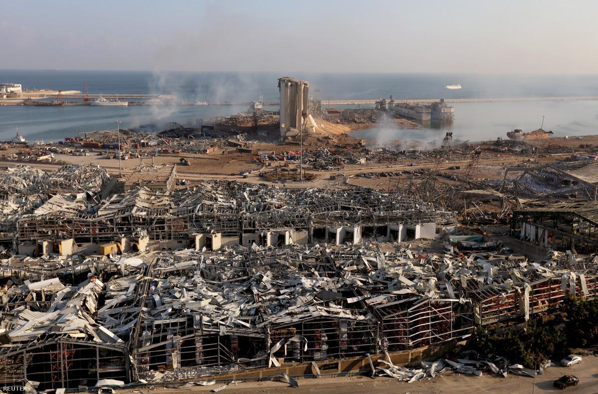 libanon bejrut robbanas 2020