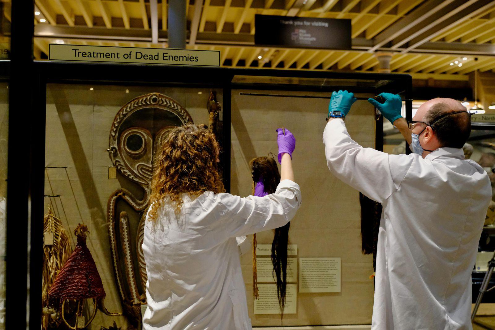 tsantsa fejek kiallitas oxfordi muzeum