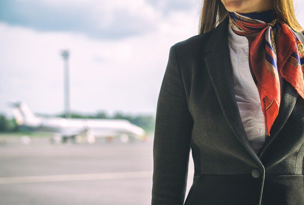 20180705stewardess on the airfield place