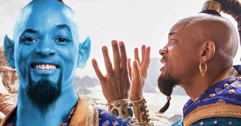 Aladdin Remake 2019 Blue Genie Will Smith