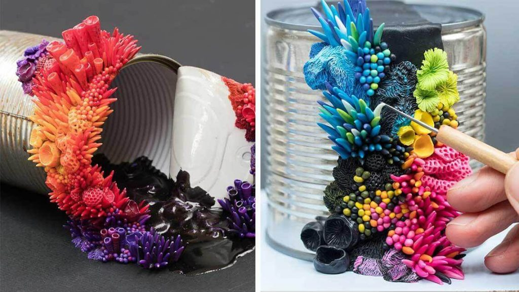Colorful Apocalyptic Sculptures Created From Recycled Trash
