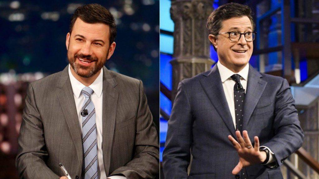Jimmy Kimmel Stephen Colbert