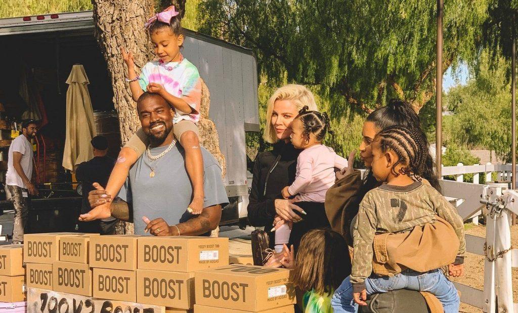 Kanye West Kim Kardashian Yeezy Stand
