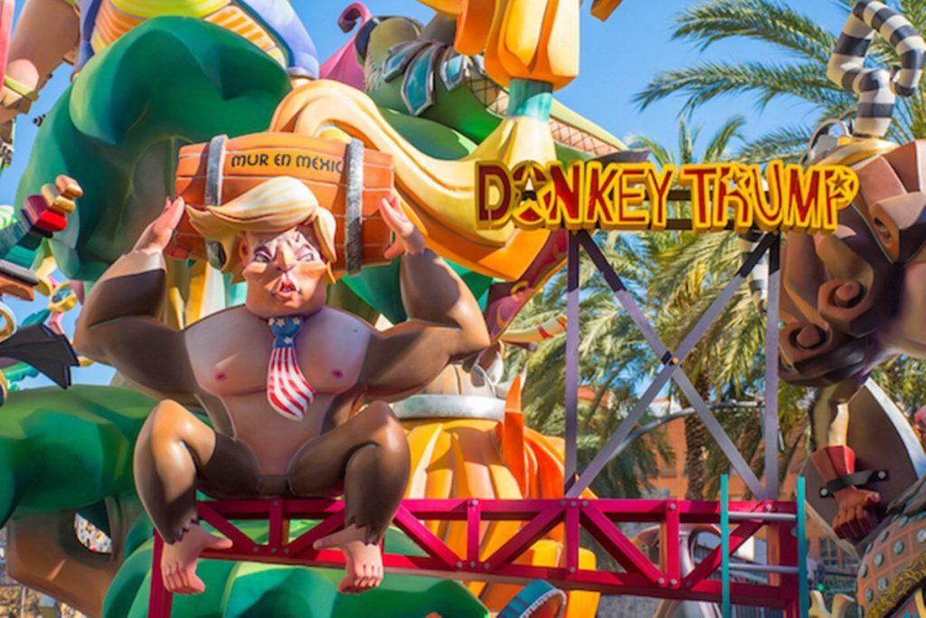 President Donald Trump Nintendo Donkey Kong Fallas Festival 1 designtaxi