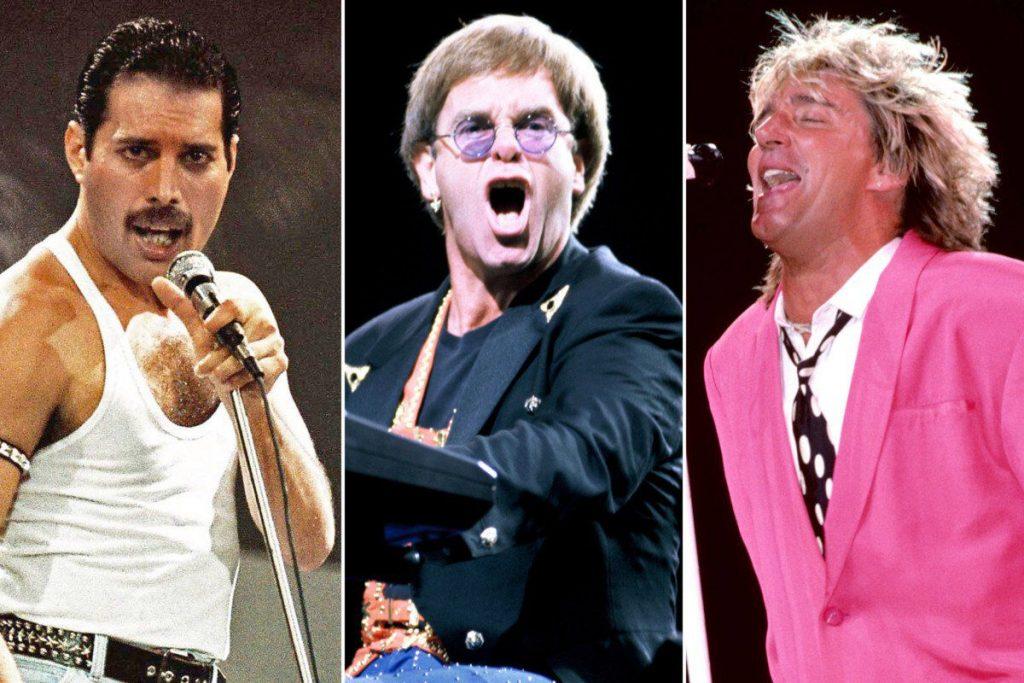 Freddie Mercury Elton John Rod Stewart