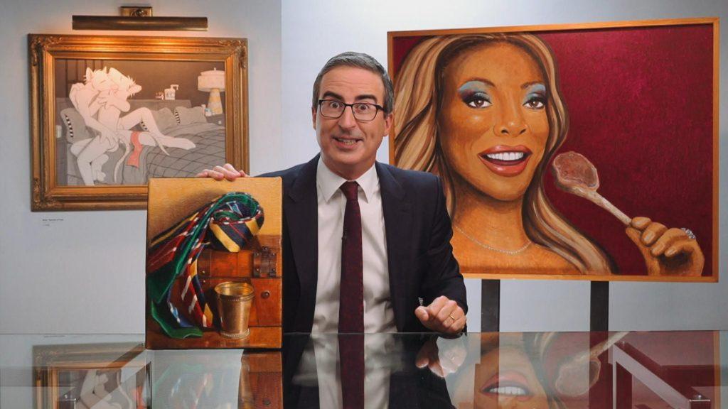 john oliver amerikai muzeumok palyazat