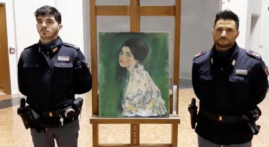 lopott gustav klimt festmeny portre kertesz