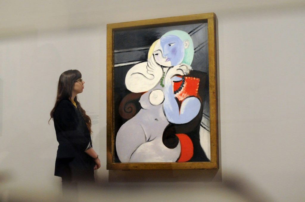 pablo picasso nude woman in a red armchair noideal festmenyeken