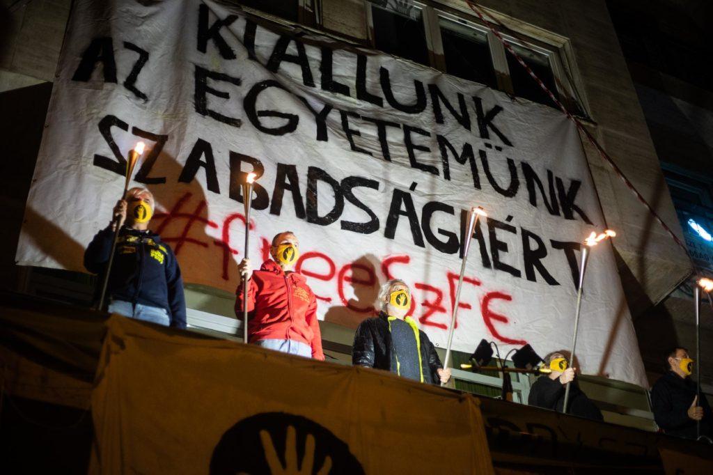 szfe sztrajk blokad szinmuveszeti egyetem novak emil szarka gabor vidnyanszky attila