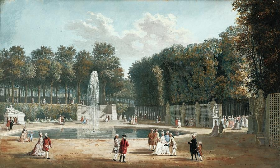 view of the tuileries garden nicholas perignon