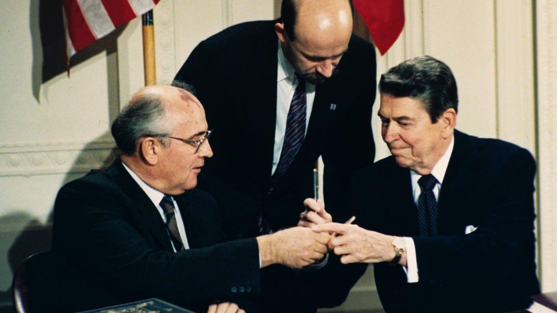 Mihail Gorbacsov Ronald Reagan Chistopher Waltz Michael Douglas Rejkavik Film 1