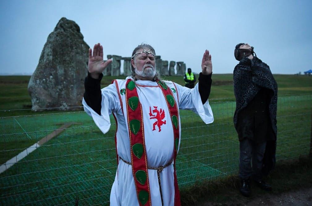 Amesbury Stonehenge Ceremonia Koronavirus Nap Fotoja