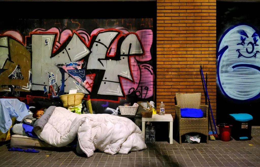 Barcelona Hajlektalan Koronavirus Fotoriport Nap Fotoja