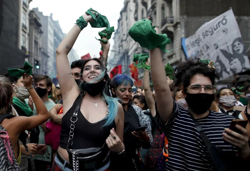 Buenor Aires Argenita Aktivistak Tuntetes Nap Fotoja
