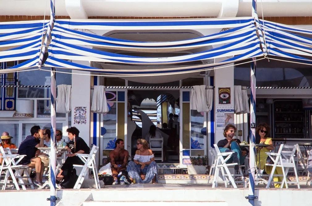 Cafe Del Mar Ibiza San Antonia Fotoriport Nap Fotoja