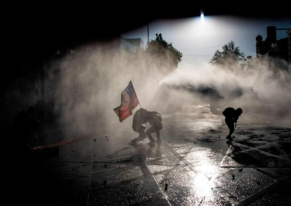 Chile Tuntetes Sebastian Pinera Nap Fotoja